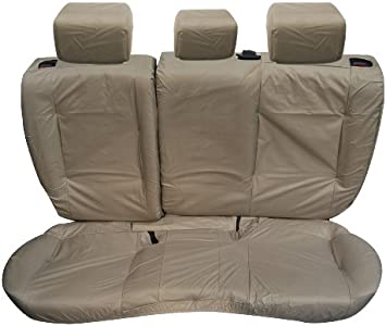 Range Rover Evoque 5 DR Rear Inka Tailored Waterproof Seat Covers Beige
