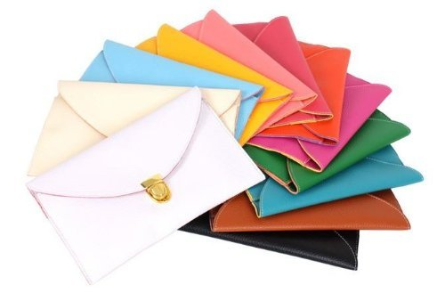 Gaorui Women lady Envelope Clutch Shoulder Chain Evening Handbag Tote Bag Purse_Multicolors