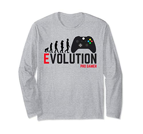 Pro Best Gamer Tee Gaming Evolution Console Gamer Player  Long Sleeve T-Shirt (Console Evolution)