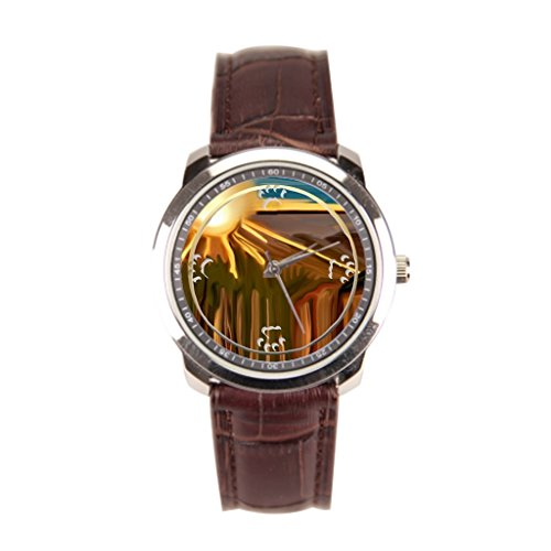 EleganceElegant Artist Leather Banded Watches Brown Men'sLeatherWatch