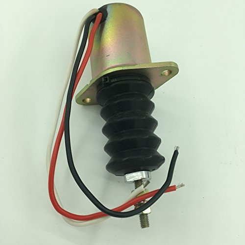 Blueview Fuel stop solenoid AM124379 for John Deere 415 455 F915 F925 F935 Front Mower