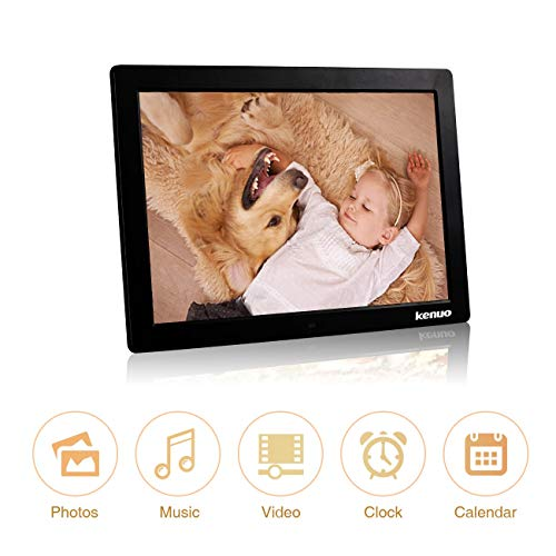 Digital Photo Frame 15 Inch,Kenuo Advertising Media Player 16:9 with 1280 x 800 HD LED Screen & Remote Control and Auto On/Off Timer - Black by Kenuo (Image #1)