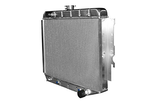 (KKS374 New 3 Rows All Aluminum Radiator Fit 1968-1974 Dodge Plymouth Mopar Cars (26 inch Core))