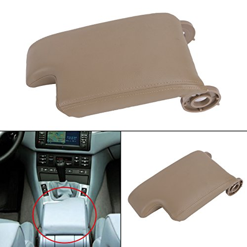 Beige Synthetic Leather Center Console Lid Armrest Cover for BMW E46 3-series 1999-2005