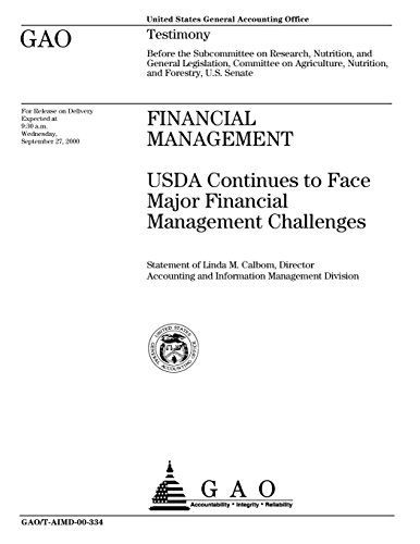Financial Management: USDA Continues to Face Major Financial Management Challenges