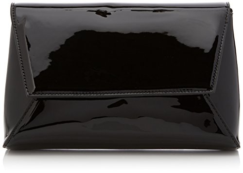 Elise Patent Leather Womens Party Prom Wedding Night Out Celebrity Ladies Clutch Bag - Black by SwankySwans