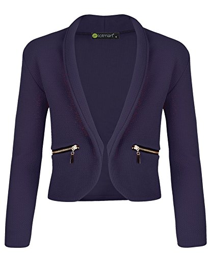 LotMart Girls Jacket with Zip Pockets in Navy 13-14 Years by LotMart