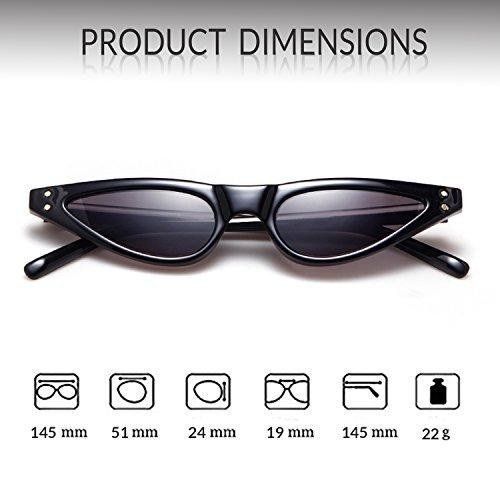 4d0fb14fcf2 Vintage Retro Cat Eye Sunglasses For Women Small Designer Shades Glasses
