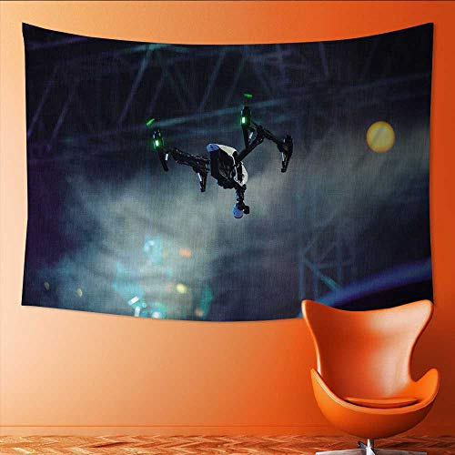 Wall Tapestry Professional Drone with Video Camera in The air During Show Hovering Drone withcamera on Home Decorations for Living Room Bedroom 84W x 54L Inch