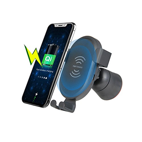 KOBWA Wireless Car Charger Holder, Gravity Car Mount Air Vent Phone Holder,...