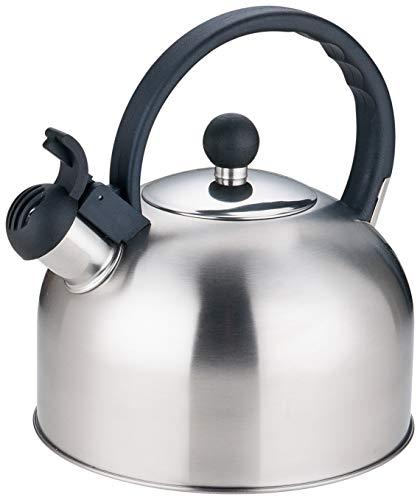 Rossetto - Hervidor de agua con silbato (acero inoxidable, 2,5 L)