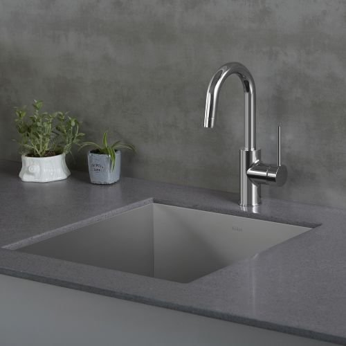 Kraus KPF-2600SS Modern Oletto Single Lever Kitchen Bar Faucet, Stainless Steel