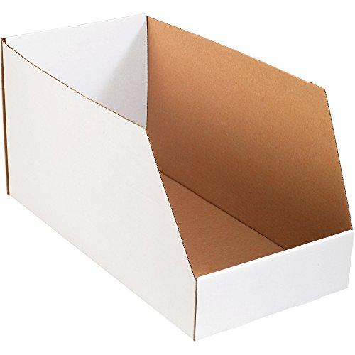 Aviditi BINJ122412 Jumbo Open Top Bin Box, 24'' Length x 12'' Width x 12'' Height, Oyster White (Case of 25) by Aviditi