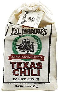Jardine's Texas Chili Bag O' Fixins Kit, 4 Ounces (Pack of 6)