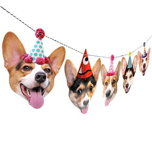 Corgis Garland - dog birthday party banner decoration ()