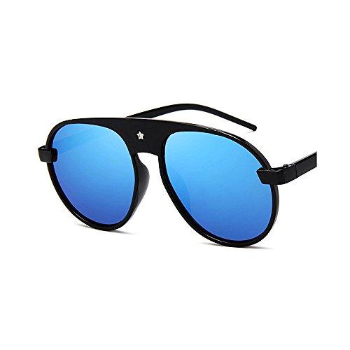 de conducción Gafas para de Mujeres Gafas Cool Ultra UV Hombre Gimitunus Sol para Ligero de Color de protección Sol Star de tamaño Colorido Gafas Rivet Gafas Gran Redondas Marco Negro Verde Sol de n81xqC