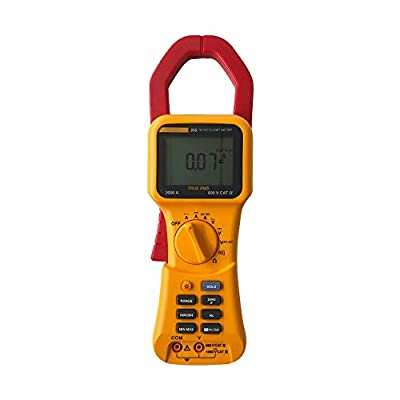 Z.H.QQHZ Electronic Multimeter 353 True RMS Clamp-Meter 2000A AC/DC Conductors to 58mm Voltmeter Ammeter Multi Tester Test Leads Kit Measuring Tools