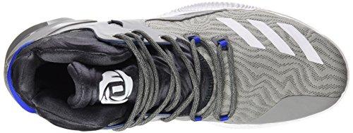 adidas D Rose 7, Scarpe da Basket Uomo, Grigio (Grpuch/Ftwbla/Grpudg), 43 EU
