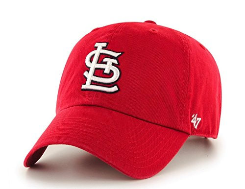 MLB '47 Brand Clean Up Adjustable Cap, St. Louis Cardinals (Baseball Hats Cardinal)