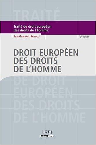 Lire en ligne Droit européen des droits de l'Homme epub, pdf