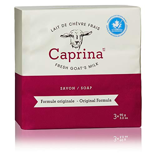 - Caprina by Canus Fresh Goat's Milk Soap, Original, 3 bars 3.2 Ounces each