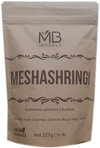 MB Herbals Meshashringi Powder 227 Gram | Half Pound | Full Spectrum Gymnema Sylvestre | Gudmar | Gurmar Powder | Reduces Sugar Craving, Glucose Absorption & Helps Maintain Healthy Sugar Level (Gymnema Sylvestre Powder)