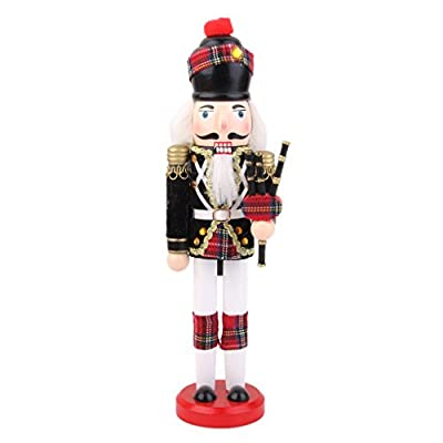 Hand Painted Wooden Nutcracker with bagpipes
