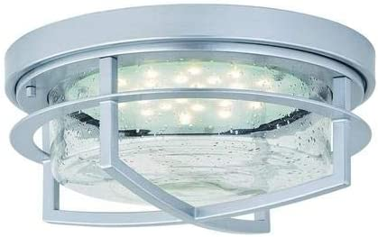Patriot Lighting Uptown Painted Satin Nickel Led Outdoor Flush Mount Ceiling Light