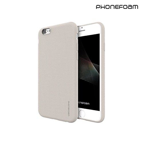 iPhone 6 Plus / 6s Plus Case, [Phonefoam Sugar - Sand] Lightweight & Thin Cover Scratch Resistant Coverage Superior Coating TPU Soft Skin for Apple iPhone (Ivory)