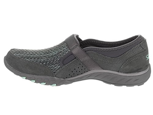 Skechers Donna Relaxed Fit respira Facile affrontare me in slip su scarpa, carbone di legna