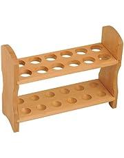 "Eisco Labs Wood Test Tube Rack, 12 Tube Capacity, 7/8"" (22mm) Holes"