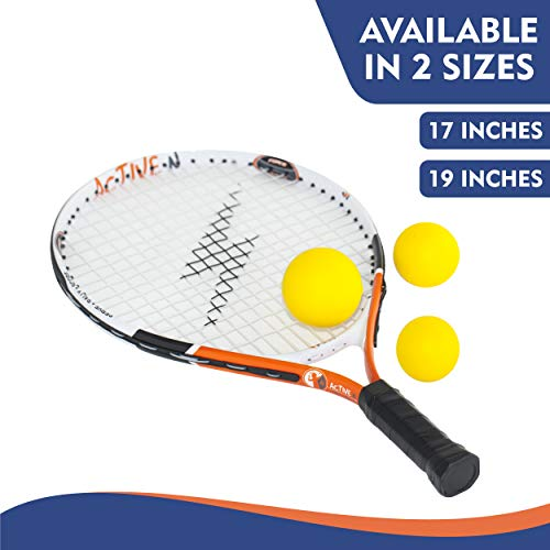 4 active n Tennis Racket for Kids, 19 inches, Includes 3 Foam Tennis Balls Single (17″)