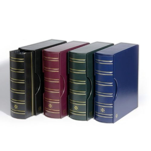 - (1) Red Burgundy Lighthouse Classic Grande Ring Binder with Slipcase Storage Case for Postcards, Stamps, Currecny Bill or Bank Notes, Documents and Coins - Pages Sold Separately