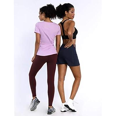 "BUBBLELIME 5""/19""/26"" XXS-XL Women's UPF 50+ Adjustable Running Skort with Leggings Pockets Active Golf Tennis Workout Skirt: Clothing"