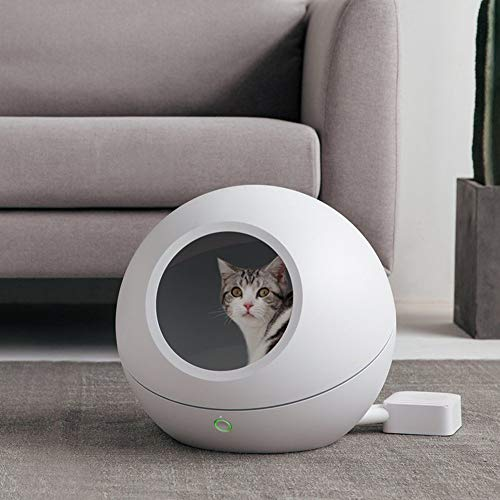 PETKI Intelligent warm and cold pets nest,Cat kennel four seasons general doghouse bed small dog house supplies pet kennel -White (General Cage Exercise Pen)