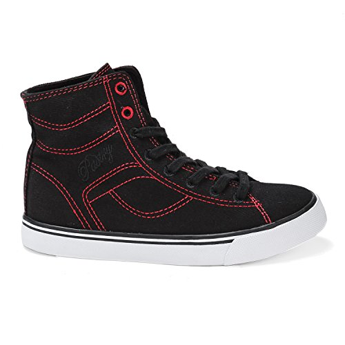 Pastry Cassatta Stretch Canvas Dance Sneakers, Black/Red, Youth/Size 2
