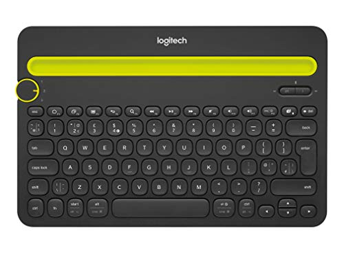 Logitech Bluetooth Multi-Device Keyboard K480 - Black - works with Windows  and Mac Computers, Android and iOS Tablets and Smartphones (Best Portable Keyboard For Tablet)