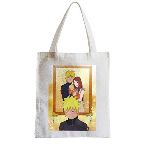 Grande Borsa Shopping Spiaggia Studente Naruto Famiglia Album Manga Genitori Ninja