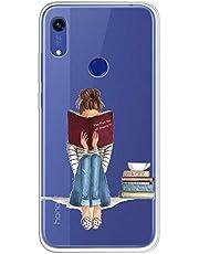 Oihxse Compatible para Funda Samsung Galaxy Note 10 Carcasa Silicona TPU Suave Transparente Anti-Choque Protector Caso Patrón Lndo Ultra-Delgado Anti-arañazos Caja Case Cover (Niña)