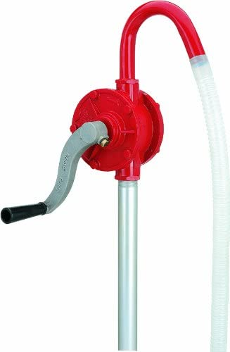 Lumax LX-1320 Red Deluxe Heavy Duty Rotary Barrel Pump