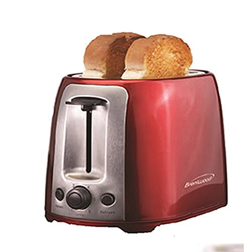 Brentwood 2-Slice Wide-Slot Toaster Red stainless steel TS-292R