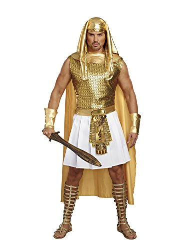 Dreamgirl Men's Ramses, Gold/White, (Mens Costumes)