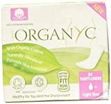 Organyc 100% Certified Organic Cotton Panty Liner, Light Flow, Folded, 24Count