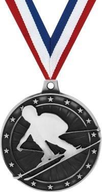 クラウンAwardsスキーメダル – シルバーSkii Medals withネックリボン B07FP2BXPW 50