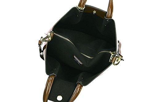 Tasche damen mit schultergurt PIERRE CARDIN taupe leder Made in Italy VN863 oAVakAIGL