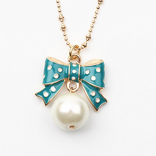 Betsey Johnson Pearl Bow Tie Necklace ()