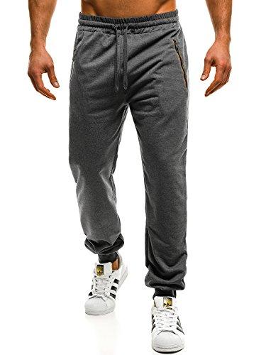 Uomo Fitness Style 8086 Pantaloni Ozonee Da Libero Jogging Ginnastica Kk01 Tempo Grigio Scuro Sport J J Jogger SzxRdq