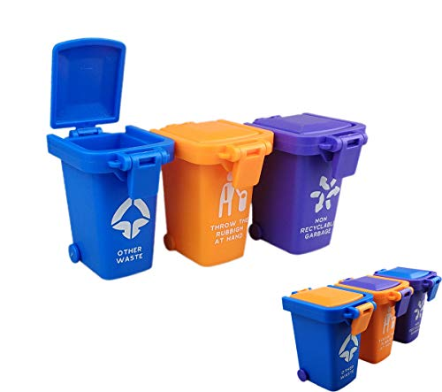 Nuanmu Trash Can Toy Kids Push Toy Vehicles Garbage Can ()