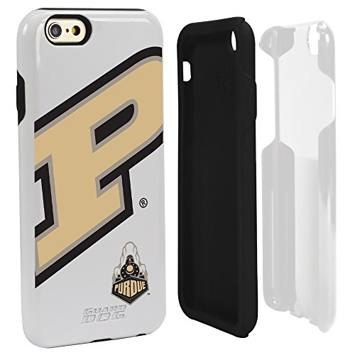 NCAA Purdue Boilermakers Hybrid Case for iPhone 6, White, One - Boilermakers Phone Cell Case