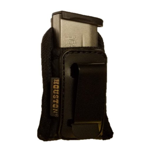 Concealment Magazine & Multi Use Holster ITW Clip Fits Most Single Stack 9mm. Shield, Xds, Glock 43 - Round Metal Shield